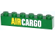 Part No: 3009pb177  Name: Brick 1 x 6 with Yellow and White 'AIR CARGO' Pattern (Sticker) - Set 60021