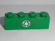 Part No: 3010pb192  Name: Brick 1 x 4 with Green Recycling Arrows Pattern (Sticker) - Set 60118