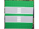 Part No: 30225c01pb01  Name: Baseplate, Road 32 x 32 7-Stud Straight with Double Driveway with Crosswalk Pattern