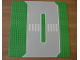 Part No: 309px1  Name: Baseplate, Road 32 x 32 Service Station with White Lines and Crosswalk Pattern