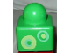 Part No: 31000pb25  Name: Primo Brick 1 x 1 with Yellow and Light Green Rings Pattern