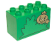 Part No: 31111pb017  Name: Duplo, Brick 2 x 4 x 2 with Bush and Spud the Scarecrow Pattern
