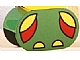 Part No: 4198pb21  Name: Duplo, Brick 2 x 4 x 2 Rounded Ends with Red and Yellow Wings and Yellow Feet Pattern