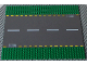 Part No: 44336pb01  Name: Baseplate, Road 32 x 32 6-Stud Straight with Dark Gray Road, Yellow Dashed Lines and Storm Drains Pattern