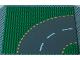 Part No: 44342pb01  Name: Baseplate, Road 32 x 32 6-Stud Curve with Dark Gray Road with Yellow Dashed Lines Pattern