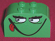 Part No: 4744pb08  Name: Brick, Modified 2 x 4 x 2 Double Curved Top with Monster Face Smiling, Tongue Pattern