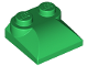 Part No: 47457  Name: Brick, Modified 2 x 2 x 2/3 Two Studs, Curved Slope End