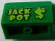 Part No: 4865pb075  Name: Panel 1 x 2 x 1 with Lime 'JACK POT $' Pattern (Sticker) - Set 71016