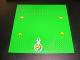 Part No: 608pb01  Name: Baseplate, Road 32 x 32 9-Stud T Intersection with Landing Lights and Arrow with Number 1 and Airplane Pattern (Stickers) - Set 3671