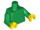 Part No: 973c20  Name: Torso Plain / Green Arms / Yellow Hands