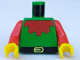Part No: 973p48c01  Name: Torso Castle Forestman Red Collar Pattern / Red Arms / Yellow Hands
