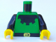 Part No: 973p50c01  Name: Torso Castle Forestman Black Collar Pattern / Black Arms / Yellow Hands