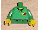 Part No: 973pb0427c01  Name: Torso Soccer Referee Yellow & Red Cards Pattern (Sticker) / Green Arms / Yellow Hands