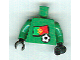 Part No: 973pb0783c01  Name: Torso Soccer Portuguese Goalie, Portuguese Flag Sticker Front, White Number Sticker Back (specify number in listing)  / Green Arms / Black Hands