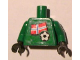 Part No: 973pb0827c01  Name: Torso Soccer Norwegian Goalie, Norwegian Flag Sticker Front, White Number Sticker Back (specify number in listing) / Green Arms / Black Hands