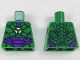 Part No: 973pb2981  Name: Torso Armor with Lex Luthor Warsuit with Green Hexagon Logo and Dark Purple Plates Pattern