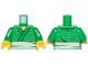Part No: 973pb3330c01  Name: Torso Ninjago Kimono with White Belt and Dots Pattern / Green Arms / Yellow Hands