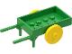 Part No: fabad6c01  Name: Fabuland Utensil Wheelbarrow (2 Wheels)
