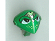 Part No: x117px9  Name: Minifigure, Head Modified Martian with Clip, Lime and Silver Head Device and Lime Freckles Pattern