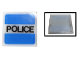 Part No: 2384pb07  Name: Electric, Light 2 x 2 Clip-On Plate with 'POLICE' Pattern