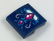 Part No: 15068pb124  Name: Slope, Curved 2 x 2 No Studs with Dragon Front Foot Pattern (Sticker) - Set 41187