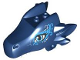 Part No: 24196pb06  Name: Dragon Head (Elves) Upper Jaw with Medium Blue Eyes and Blue Swirls Pattern (Sapphire)