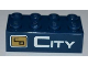 Part No: 3001pb088L  Name: Brick 2 x 4 with City Bank Logo and 'CITY' Pattern (Sticker) - Set 3661