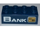 Part No: 3001pb088R  Name: Brick 2 x 4 with 'BANK' and City Bank Logo Pattern (Sticker) - Set 3661