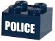 Part No: 3003pb087  Name: Brick 2 x 2 with White 'POLICE' Pattern (Sticker) - Set 60068