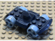 Part No: 30558c05  Name: Vehicle, Base 4 x 6 Racer Base with Medium Blue Wheels