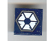 Part No: 3068bpb0139  Name: Tile 2 x 2 with Groove with 6 White Triangles Pattern (Sticker) - Set 7252