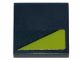 Part No: 3068bpb1213  Name: Tile 2 x 2 with Lime Triangle on Dark Blue Background Pattern (Sticker) - Set 70835