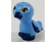 Part No: 35074pb03  Name: Bird, Friends / Elves, Feet Joined with Dark Blue Beak, Medium Blue Body and Brown Eyes Pattern