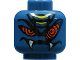 Part No: 3626bpb0662  Name: Minifig, Head Alien with Red Snake Eyes and Mouth with Fangs Pattern - Blocked Open Stud