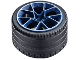 Part No: 37383pb01c01  Name: Wheel 62.3mm D. x 42mm Technic Racing Large with Silver Outline Pattern with Black Tire 81.6 x 44 ZR Technic Straight Tread (37383pb01 / 23799)
