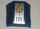 Part No: 44675pb002  Name: Slope, Curved 2 x 2 No Studs, 3 Side Ports Recessed with Agents Logo Pattern (Sticker)