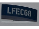 Part No: 50950pb055L  Name: Slope, Curved 3 x 1 No Studs with 'LFEC68' Pattern Model Left Side (Sticker) - Set 6867