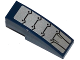 Part No: 50950pb102  Name: Slope, Curved 3 x 1 No Studs with Silver Armor Plates and Black Rivets Pattern (Sticker)