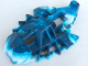 Part No: 53549pb01  Name: Bionicle Foot Toa Inika Elliptical with Marbled White Pattern