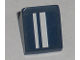 Part No: 54200pb012L  Name: Slope 30 1 x 1 x 2/3 with White Stripes Pattern Model Left (Sticker) - Set 8194