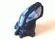 Part No: 57578pb02  Name: Minifigure, Head Modified Bionicle Toa Mahri Hahli / Nuparu (Hahli Dark Blue)