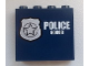 Part No: 60581pb018L  Name: Panel 1 x 4 x 3 with Side Supports - Hollow Studs with Silver Star Badge and White 'POLICE 60008' Pattern Model Left Side (Sticker) - Set 60008