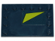 Part No: 6180pb119  Name: Tile, Modified 4 x 6 with Studs on Edges with Lime Triangle on Dark Blue Background Pattern (Sticker) - Set 70835