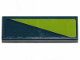 Part No: 63864pb078  Name: Tile 1 x 3 with Lime Triangle on Dark Blue Background Pattern (Sticker) - Set 70826