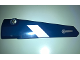 Part No: 64681pb032  Name: Technic, Panel Fairing # 5 Long Smooth, Side A with White Stripe and Door Handle Pattern (Sticker) - Set 41999