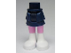 Part No: 92250c00pb03  Name: Mini Doll Friends Hips and Layered Skirt, Bright Pink Legs and White Boots Pattern
