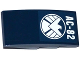Part No: 93606pb050  Name: Slope, Curved 4 x 2 No Studs with 'AC-82' and SHIELD Logo Pattern (Sticker) - Set 76036