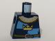 Part No: 973pb0451  Name: Torso Castle Fantasy Era Gold Crown on Dark Blue, Medium Blue Quarters, Collar Pattern