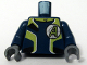 Part No: 973pb0484c01  Name: Torso Agents Uniform Male / Dark Blue Arms Pattern / Dark Bluish Gray Hands
