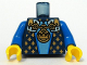 Part No: 973pb0574c01  Name: Torso Castle Fantasy Era with Gold Chain, Medallion and Gold Detail Pattern / Blue Arms / Yellow Hands